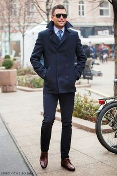 How To Wear: The Pea Coat | Lookastic for Men