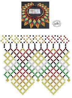 Peyote Patterns, Loom Patterns, Beading Patterns, Loom Beading, Diy Necklace Patterns, Beaded Jewelry Patterns, Fabric Beads, Bead Jewellery, Handmade Beads
