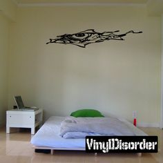 Eye Face Tears through walls faces Ripped Wall Decal - Vinyl Decal - Car Decal - CD10050