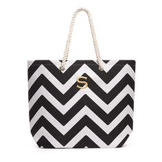 dc216b132 Extra Large Cabana Tote - Black - The Knot Shop Personalized Gifts For Her,  Personalized
