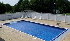 Simple yet fun | cfa-online.com Concrete Patios, Home Improvement Contractors, Stamped Concrete, Pool Decks, Brick, Simple, Outdoor Decor, Fun, Bricks