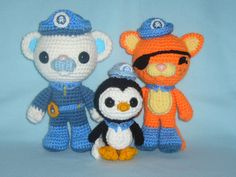 Octonauts Kwazii toy cat crochet pattern PDF. ££4.00 GBP, via Etsy.