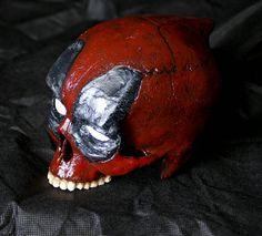 Deadpool skull Marvel handmade art head