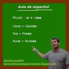 O plural em espanhol. #espanhol #aprenderespanhol #dicasdeespanhol