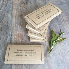 25 Kraft Funeral Tissue Wraps 'Sometimes memories by AngelAndDove