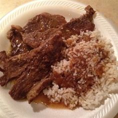 Easy Minute Steaks With Steaks, Condensed French Onion Soup Bottom Round Steak Recipes, Beef Bottom Round Steak, Minute Steak Recipes, Cube Steak Recipes, Cuban Recipes, Beef Recipes, Cooking Recipes, Dinner Recipes, Leche Flan