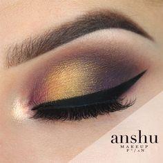 Makeup Geek Eyeshadows in Casino, Curfew, Fashion Addict and Taboo + Makeup Geek Sparklers in Light Year. Look by: Anshu