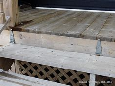 How to add stairs for a deck Deck Stairs, Deck Railings, Porch Trim, Deck Framing, Raised Deck, How To Build Steps, Deck Storage, Wrap Around Deck, Covered Decks