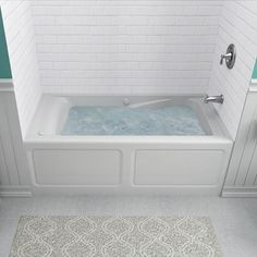 American Standard EverClean 5 ft. x 32 in. Right Drain Whirlpool Tub in White-2425LC-RHO.020 - The Home Depot