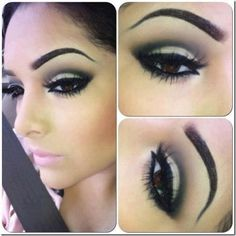 black cut crease eye look beautiful eye make up Pretty Makeup, Love Makeup, Makeup Tips, Perfect Makeup, Glam Makeup, Makeup Ideas, Heavy Makeup, Matte Makeup, Neutral Makeup