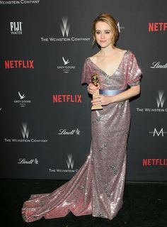 Claire Foy - love The Crown! Golden Globes After Party, Golden Globe Award, Claire Foy Golden Globes, Yvette Nicole Brown, Glamorous Dresses, Vince Camuto Dress, Nice Dresses, Formal Dresses, Red Carpet Looks