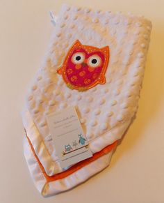 Cuddle Blanket with Owl Applique by DarlenesNeedlesnPins on Etsy