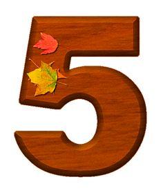 Zahl - Nummer - Number / 5 - Fünf - Five (Herbst / Autumn / Fall)