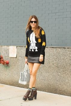 The NYFW Street Style Looks That Truly Stunned #refinery29  http://www.refinery29.com/2014/09/73987/new-york-fashion-week-2014-street-style-photos#slide15  Dani Stahl is out of this world.