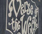 DIY Verse of the Week  Vinyl lettering - Scripture Memory - Bible Verse - Chalkboard