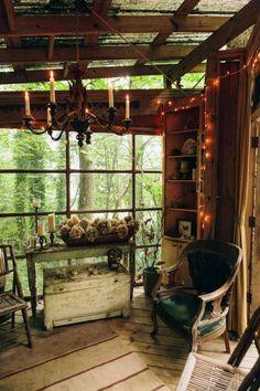 Peek inside one couple's enchanted backyard getaway.