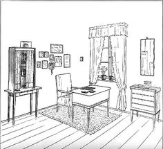 A Collection of Tessenow's Interiors Drawings – SOCKS Architect Drawing, Floor Plans, Studio, Chair, Drawings, Building, Furniture, Collection, Socks