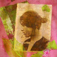 1. Il suffit de photocopier une image (en noir et blanc ou en couleur), de la découper et de l'enduire côté imprimé d'une couche de vernis colle, le même que l'on utilise pour le collage de serviettes. J'utilise un pinceau brosse assez large ou un pinceau...
