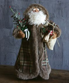 This Santa with Gift Bag & Tree Statue is perfect! #zulilyfinds