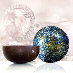 dekorativ Mosaik handgefertigt Orange nat/ürlich dDanke Kokosnussschale