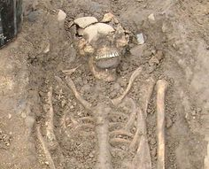 "'Vampire' Skeletons Found in Bulgaria  Two medieval ""vampire"" skeletons emerged near a monastery in the Bulgarian Black Sea town of Sozopol, local archaeologists announced.  Dating back 800 years to the Middle Ages, the skeletons were unearthed with iron rods pierced through their chests — evidence of an exorcism against a vampire. The ritual was aimed at preventing potentially dangerous people, such as enemies, murderers, or those who died a sudden strange death from becoming vampires."