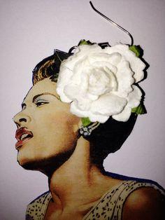 Billie Holiday with Flower-Multiple Sizes Billy Holiday, Charles Bradley, Greys Anatomy Memes, Custom Earrings, American Horror Story, Ladies Day, Black Velvet, Black And Brown, 3 D