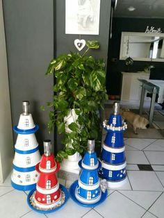 Aus Blumentöpfen und LED-Fackeln