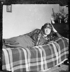 "adelphe: "" Katherine Mansfield wearing an Arabian shawl, Rottingdean, Sussex, England, Photograph taken by Ida Baker. John Middleton, Katherine Mansfield, English Writers, New Zealand Art, Writers And Poets, People Of Interest, Classic Literature, Illustrations, Famous Faces"
