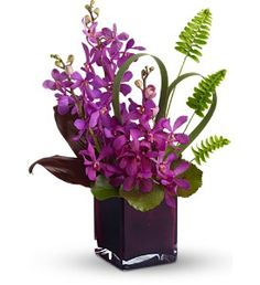 Ti Leaves, Flax, Dendrobium Orchids