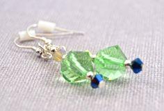 Fern Green Meadow Swarovski Beaded Earrings.  $23  www.wiredboutique.com