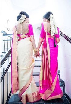Matching sarees - Soup, Yut and I