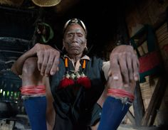 village elder Nagaland captured by David Metcalf