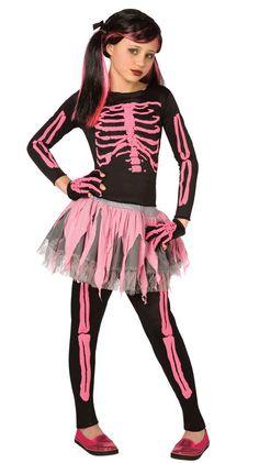 Girl's Skeleton Costume