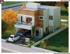 Planta de Sobrado - 3 Quartos - 149.75m² - Monte Sua Casa