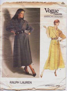 1980s American Designer Vogue Pattern 1794 Ralph by CloesCloset, $15.00