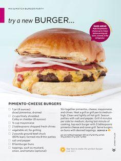 Pimento cheese burgers