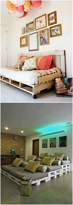 Muebles de palets Lámparas y jardineras con cajas de fruta IDEES - ideas con palets