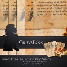 Rose and Literature Altered Ephemera background paper by greyslion, $0.99