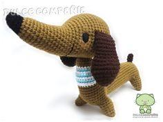 ROBERTO Salchicha #elmundodepicapau #amigurumi #dog ♥ 40 cm de largo (aprox.)