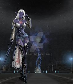 Lineage2 Dark Elf by Reno-Viol on DeviantArt