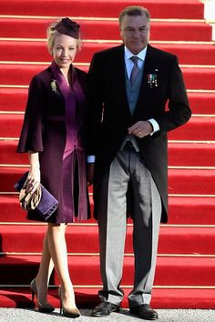 Princess Camilla, Duchess Of Castro and Prince Carlo, Duke Of Castro arrive at the Cathedral of Monaco during the official ceremonies for the Monaco National Day at Cathedrale Notre-Dame-Immaculee de Monaco on 19.11.2014 in Monaco, Monaco.