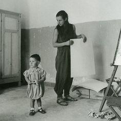 Francoise Gilot et Claude Picasso
