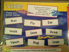2 Set Educational Charts: Verbs & Adverbs Charts for Teachers, Daycares & Homeschoolers | eBay Set of 2 Charts for only $4.00 in my Store...Come See!