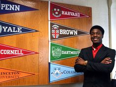 Kwasi Enin of Shirley, NY. Is a 17 year old African American who was accepted to All 8 Ivy League Schools. He's an aspiring Physician. High School Students, High School Seniors, Harvard Yale, Harvard University, Brown University, University Life, Columbia, Ivy League Universities, Ivy League Schools