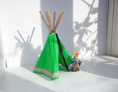 Mini tipi tentje met indianen muis Play S, Tents, Mice, Van, Houses, Girls, Teepees, Homes, Computer Mouse