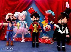Circo!! ;) www.artelieartesanatos.com.br #feltro #felt #circo #circus