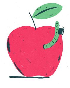 Christopher Silas Neal.  As a kid I used to doodle wormies coming out of apples all the time!