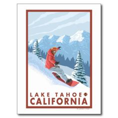 Snowboarder Scene - Lake Tahoe, California Post Card we are given they also recommend where is the best to buyHow to          Snowboarder Scene - Lake Tahoe, California Post Card today easy to Shops & Purchase Online - transferred directly secure and trusted checkout...