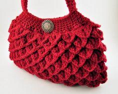 Crochet Crocodile Stitch Purse Bag by CrochetBeautyShoppe on Etsy
