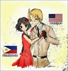 This is my design for the Philippines! ~ I hope you guys like it! I really wish she'd be in Hetalia already! Name: Maria Clarice Isabella Borromeo In the picture, she's currently under Spain. Hetalia Philippines, Jose Rizal, Aph America, Backyard Sheds, I Love To Laugh, Country Art, My Heritage, Aesthetic Iphone Wallpaper, Line Art